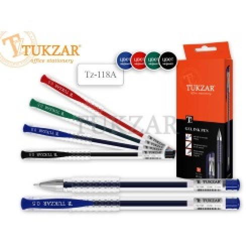 Ручка гелевая: СИНЯЯ, игольчатый пишущий узел 0.5 мм TUKZAR