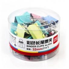 Зажим цветной 32мм (24 шт,) в пласт. уп. Е8553А