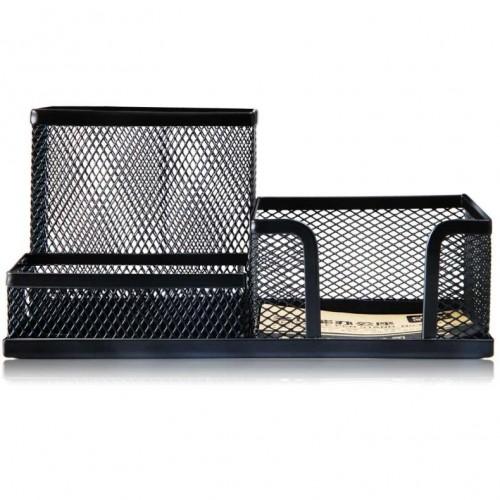 Подставка для канц. принадлежностей метал сетка черная DELI Е9175