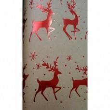 """Крафт бумага """"Красные олени"""" для сувенирной продукции арт.79488"""