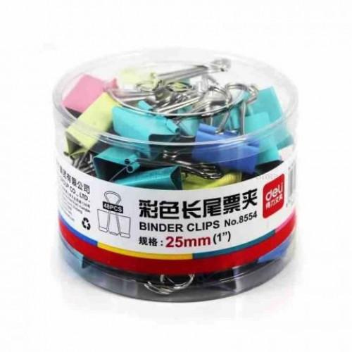 Зажим цветной 25мм (48 шт,) в пласт. уп. Е8554А