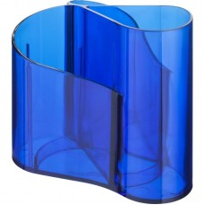 Подставка для канцел.мелочей на 3 отделения голубая