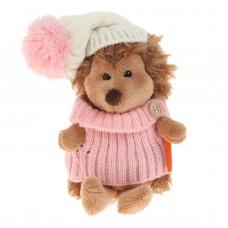 Игрушка мягконабивная *Life  Ежинка Колючка в шапке с розовым помпоном 15  OS605/15А