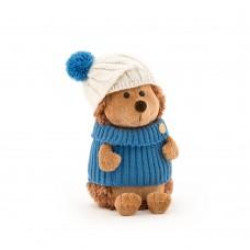 Игрушка мягконабивная *Life  Ёжик Колюнчик в шапке с голубым помпоном 15 OS605/15B