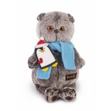 Игрушка мягконабивная Басик в шарфике и с пингвином Ks19-072