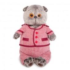 Игрушка мягконабивная Басик в красном пиджаке и брюках в ёлочку Ks22-085