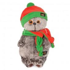 Игрушка мягконабивная Басик в оранжево-зеленой шапке и шарфике Ks19-087