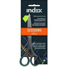 Ножницы INDEX 16,5 см резиновые ручки