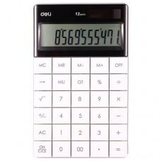 Калькулятор 12 разрядов, белый арт. 1589 (Deli)