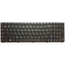 Клавиатура для ноутбуков  Asus K50 с рамкой, островные клавиши, черная