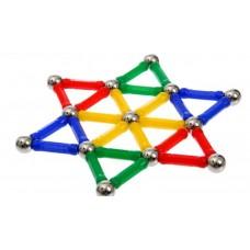 Конструктор магнитный «Звезда», 37 деталей, цвета МИКС