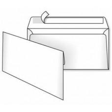 Конверт почтовый 110×220 мм (DL) белый, без печати, силикон