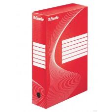 """Коробка архивная 80 мм. """"Esselte"""" красный, 128412"""