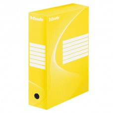 """Коробка архивная 80 мм. """"Esselte"""" желтый, 128413"""