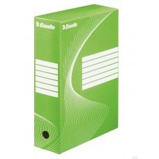 """Коробка архивная 80 мм. """"Esselte"""" зеленый, 128414"""