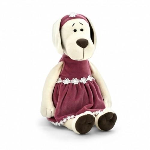 Игрушка  *Life  Собачка Лапуська в бархатном платье 20 OS122/20