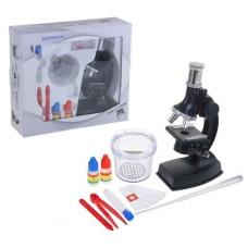 Микроскоп, 100х, 300х, 600х, 900х, инструменты, баночка для образцов, 24 × 27 см