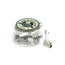 Зажим для бумаг 19мм, серебро 24шт/упак ABS91691
