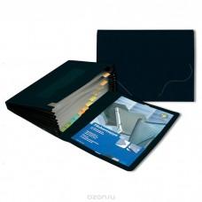 Портфель ф.А4, на 12 отделений, чёрный Office Point