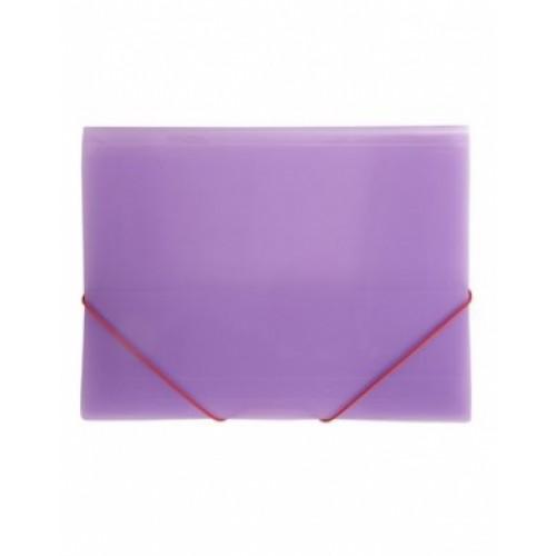 Папка Пластиковая Hatber А4ф на резинке LINE 400мкм полупрозрачная