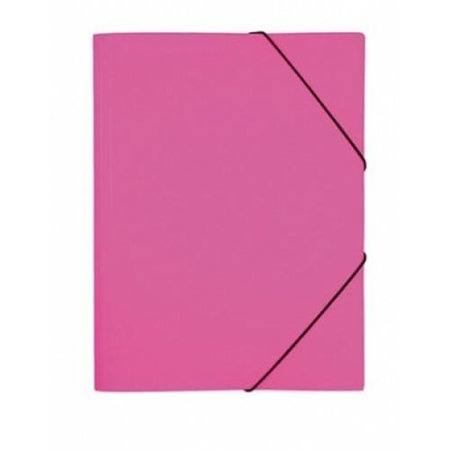 """Папка Пластиковая А4ф с клапанами на резинке DIAMOND NEON 500мкм- Розовая Пк4р_02033 """"HD"""""""