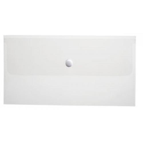 Папка-конверт Пластиковая на кнопке С6 ф Hatber 180мкм 224х119мм