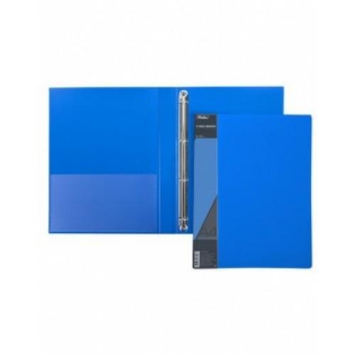 Папка Пластиковая Hatber на 4-х кольцах А4ф корешок 25мм STANDART