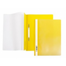Папка скоросшиватель A4 Hatber 140/180мкм желтая AS4_00105
