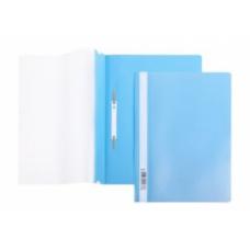 Папка скоросшиватель A4 Hatber 140/180 мкм голубая АS4_0110