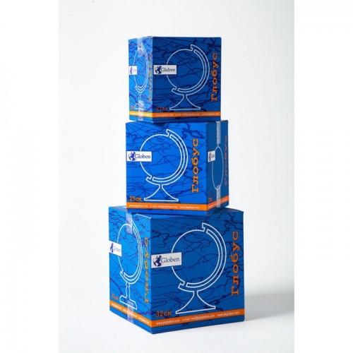 Глoбус физико-политический «Классик Евро», диаметр 250 мм, с подсветкой