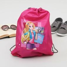 "Сумка-рюкзак для обуви ""Блондинка"", 43 х 38 см"