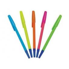 Ручка шариковая Стамм 049 синяя флюор.корп.